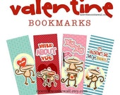 12 Valentine Bookmarks & Tags / Ideas for Gift Packaging with Valentine Treats  Book Mark