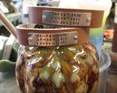 The Max Cuff - Custom Message Hand Stamped Leather Cuff Bracelet