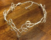 Elven Circlet TEMPLA Celtic Hand Wire Wrapped - Choose Your Own COLOR - Crown Tiara Bridal Wedding Hairpiece