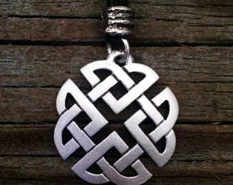 Small Open Celtic Knot Pewter Pendant