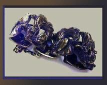 Bronze WHIRLWIND-Finnish Brutalist Bronze Modernist Bracelet,Burnished Patina,Vintage Jewelry,Women