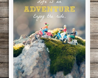 Life is an Adventure Printable, Instant Download, Inspirational Quote, Nursery Wall Art, Kids Room Decor, Family Room Art, Dorm Decor