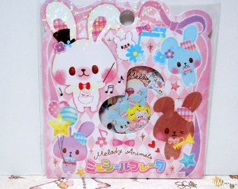 CRUX Sticker Flakes - MELODY ANIMALS - 42 Pieces (05296)