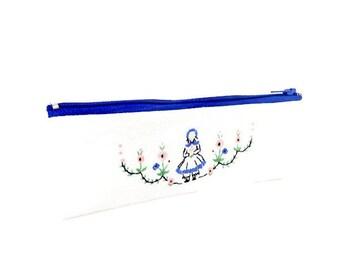 Small Fabric Zipper Pouch, Small Zipper Case, Fabric Case, Pouch, Coin Purse, Change Pouch, Cute Pouch, Pencil Pouch, Fabric Pencil Case