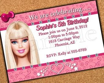 Custom Made Birthday Invitation - 5 x 7  print - Digital Delivery