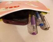 Asian Pencil Pouch, Asian Makeup Bag, Asian Gadget Case, Asian Medicine Bag, Asian Style Mini Bag
