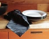 Organic Tea Towel - Wayward in black