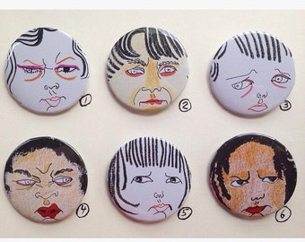attitude badges - your choice from 6 designs