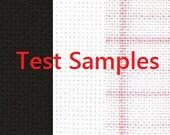 DMC Fabric Samples, Cross Stitch Fabric, DMC Material, SAMPLES, Swatch, 14 Count, 18 Count, 25 Count Fabric, 100% Cotton Fabric