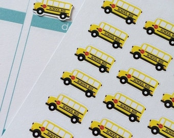 SALE Planner Stickers 32 Buses Life Planner Stickers