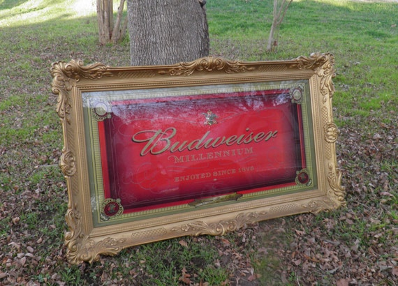 Anheuser Busch Millennium Lighted Mirror Beer