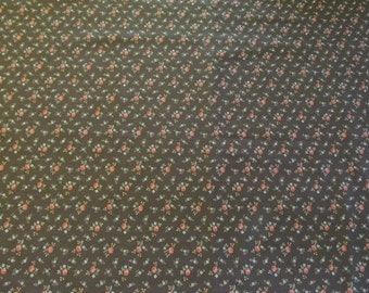 Free Shipping! A VIP Print by Cranston Print Works Company, Brown Calico, 1/2 Yard. 16027