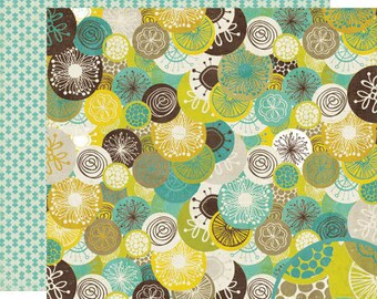 """Crate Paper Brook collection: 12x12 double sided scrapbook paper """"River Rock"""""""
