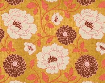 COUPON CODE SALE - Joel Dewberry, Bungalow, Dahlia, Maize, Free Spirit Fabrics, Designer Cotton Quilt Fabric, Quilting Fabric