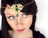 Gold Dragon Circlet in Gold and Emerald