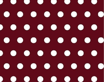ON SALE Little Dot in Burgundy - Half Yard