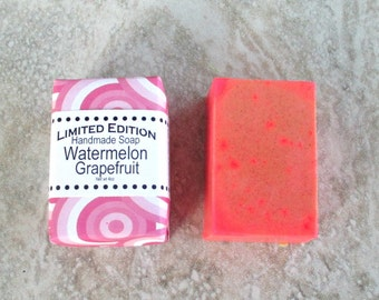 Watermelon Grapefruit scented Soap, gentle cleansing soap, best bar soap, citrus fruity scent blend