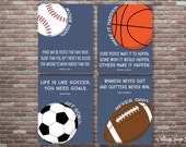 Motivational Sports Decor, Sports Quotes Decor,Sports Nursery, INSTANT DOWNLOAD,Boys Sports Room,Baseball, Basketball, Football, Soccer