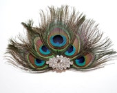 Wedding Hair Piece Peacock Feather Hair Clip for a WEDDING Bridal Accessories Fascinator bridesmaid for a bride