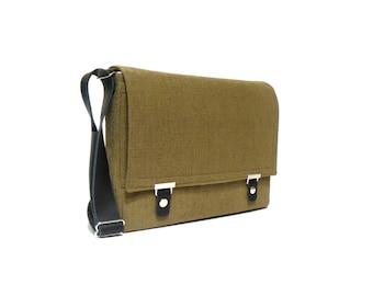 "13"" / 15"" / 17"" MacBook Pro / Pro Retina messenger bag - olive"
