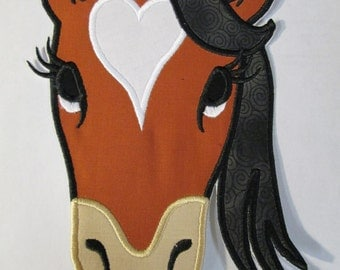 Iron On Applique -  Bella the Diva Horse