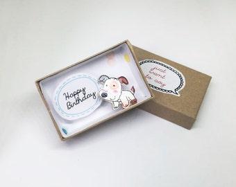 Happy Birthday/ Message Box/ Birthday Card / Greeting Card/ Dog Birthday