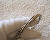 RESERVED Sterling Silver Hinged Bangle Bracelet Twisted Cable Style 925