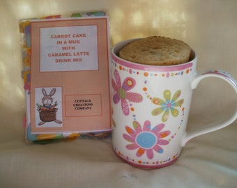 Easter Carrot Cake in a Mug with Caramel Latte Drink Mix