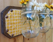 Mason jar shelf with a QUILTED touch, made to match any quilt you purchase
