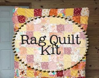 Rag Quilt Kit, multiple sizes available, Wanderlust fabrics