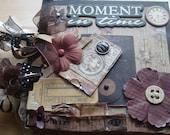 Moment in Time scrapbook album