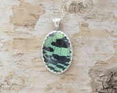 Real Insect Moth Wing Pendant Sterling Silver