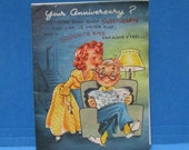 Sexy Greeting Card 1950s Funny Get Well Risque Vintage Unused Paper Ephemera Naughty Suggestive Kitsch