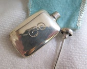 Tiffany & Co. Perfume Bottle with Dauber Sterling Silver with Original Felt Pouch and Box Vintage 1960's