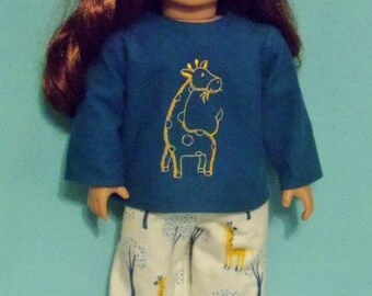 18 inch  Doll Giraffe Pajamas
