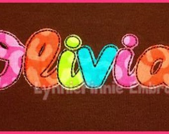 Always a Good Time MINI Applique Script Embroidery FONT  3 sizes  Machine Embroidery Design