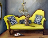 Return Of The Finch- Fine Art print of Original painting by catherine nolin