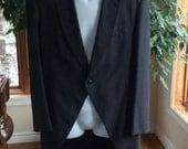 Vintage charcoal grey morning coat