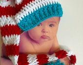 Dr Seuss or Christmas Longstocking Beanie - Newborn Sized, boy or girl hat