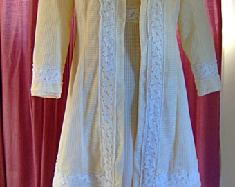 CLEARANCE SALE - 1900s Edwardian Coat Suit Dress Cream Cotton Fabric Ivory Trim 1912 1909 1914 Touring Car Hat Titanic Era - Downton Abbey