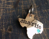 Custom State Pet ID Tag Personalize it with your Dog's Name and Number