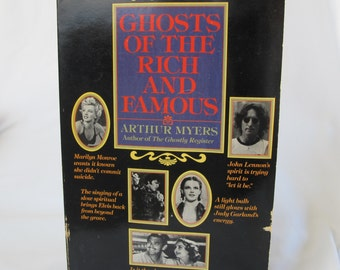 Ghosts of the Rich and Famous Arthur Myers Vintage Books Supernatural Hollywood Legend Paperback Haunted House Famous Actors Halloween