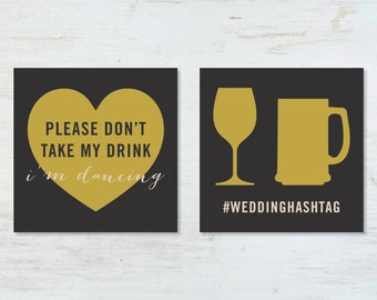 Please Don't Take My Drink, I'm Dancing cards (set of 100)