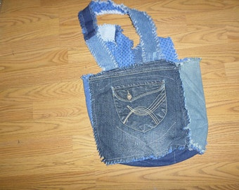 Denim Market Bag