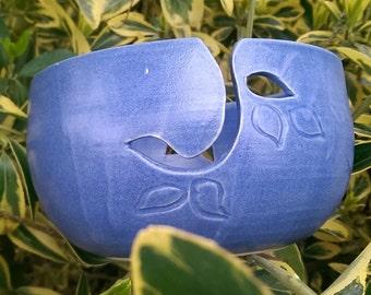 Yarn bowl blue on blue 14