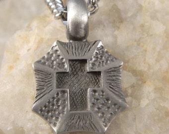 Shield Cross Men's Necklace