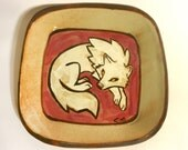 White and Red Wolf Dish