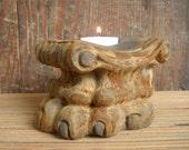 clawfoot candleholder