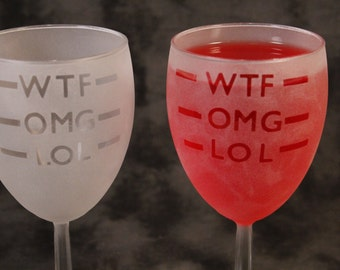 Etched Wine Glasses Set Of 2 for any Mood