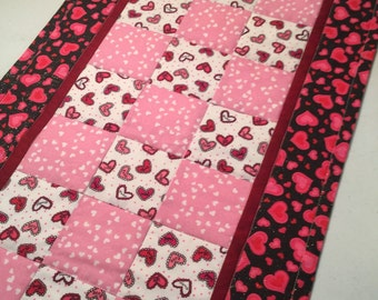 Valentine's Day Patchwork Table Runner